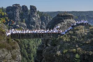 Bild: Die Bergfinken auf der Felsenburg Neurathen