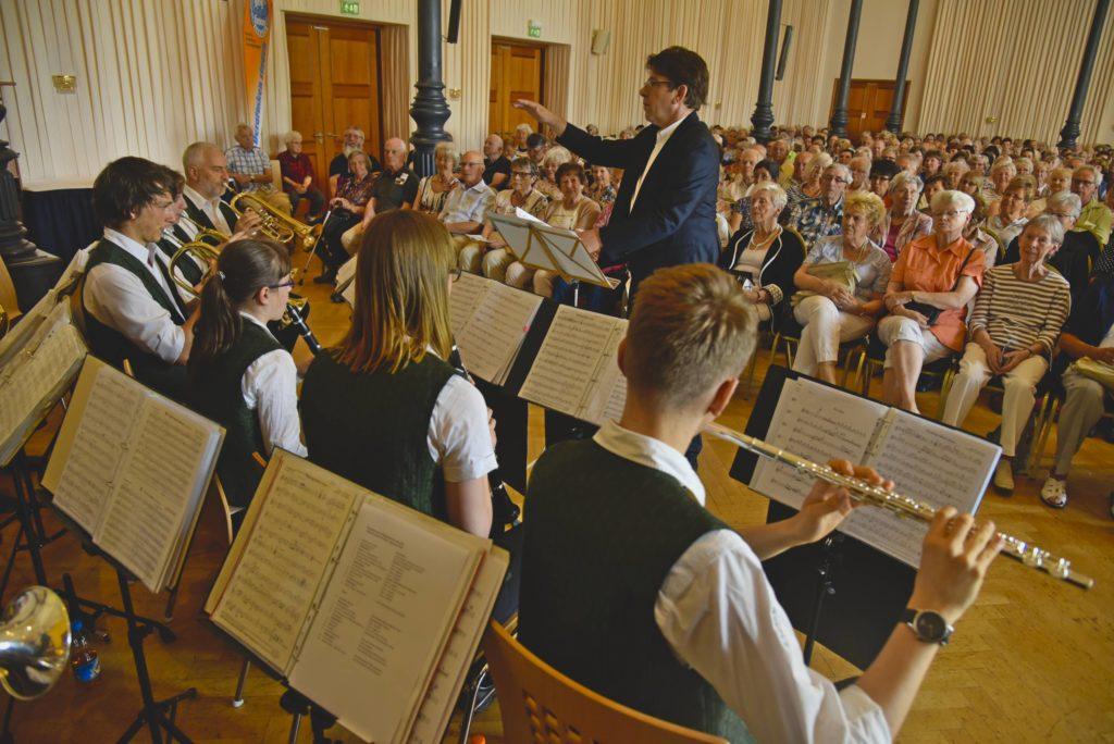 De Sachsenländer Blasmusikanten im Konzert