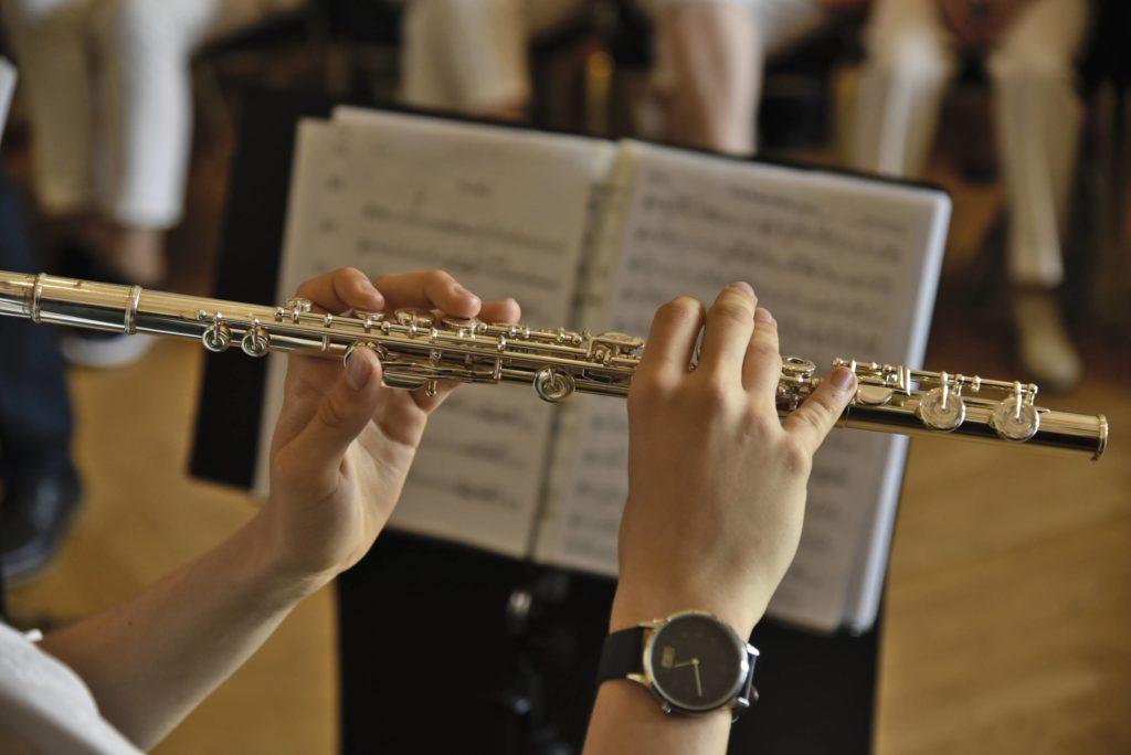 Die Querflöte der Sachsenländer Blasmusikanten