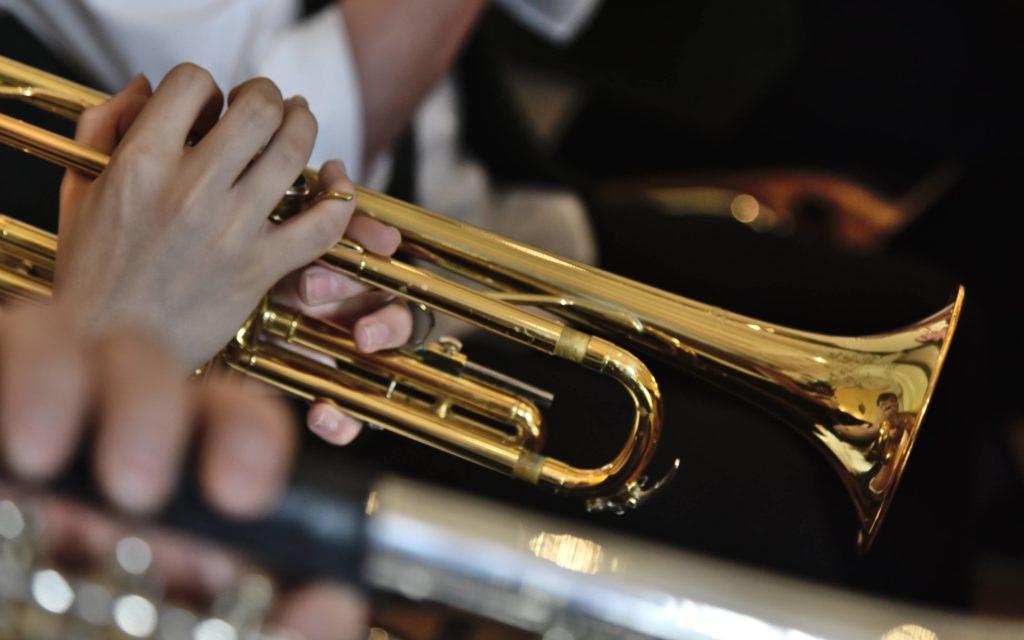 Die Trompete der Sachsenländer Blasmusikanten