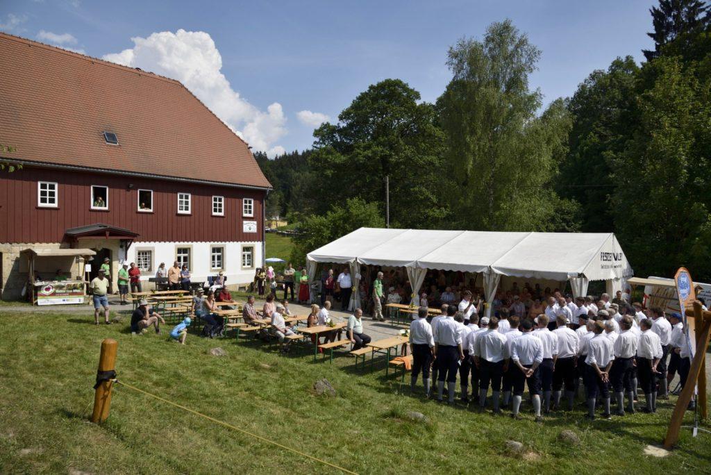 Umgebindehausses an der SBB-Hütte in Saupsdorf, am 27. Mai 2018 (c) by bf lyber
