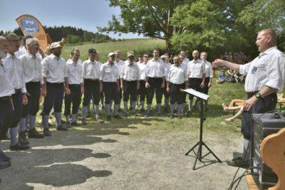 Die Bergfinken zum Tag des Umgebindehausses an der SBB-Hütte in Saupsdorf, am 27. Mai 2018 (c) by bf lyber