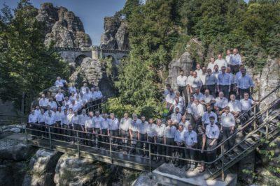 Die Bergfinken auf der Felsenburg Neurathen | Foto: Frank Richter 2016