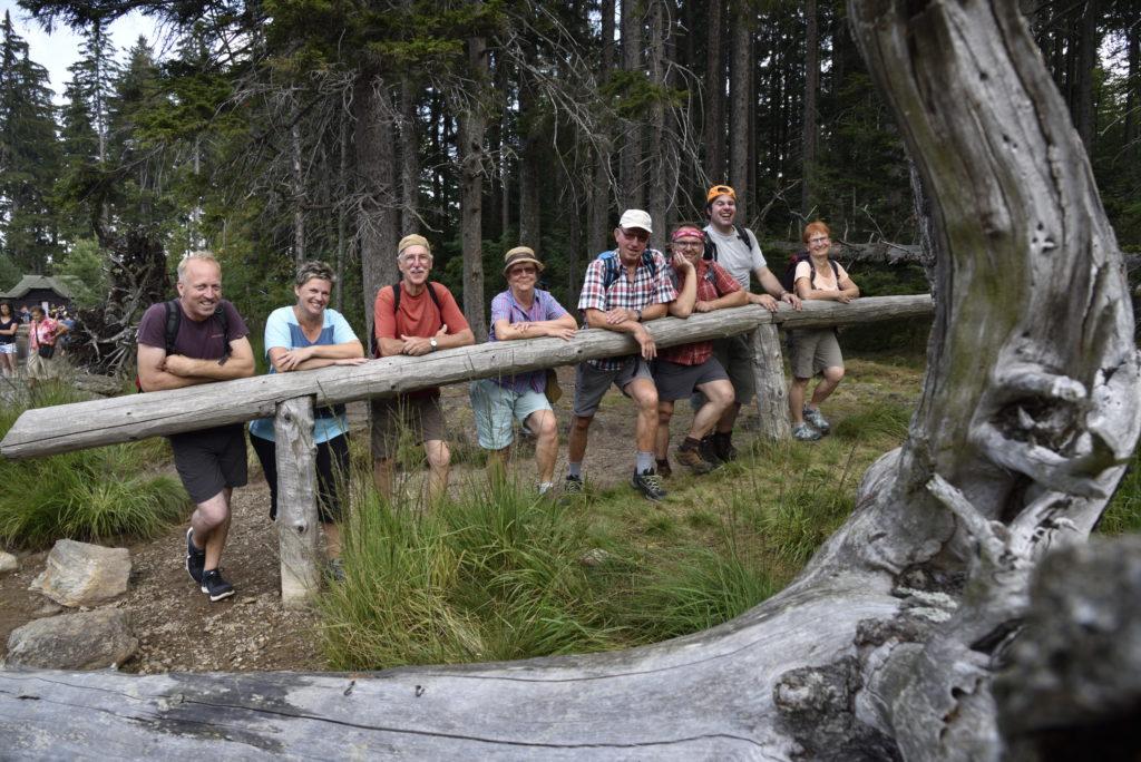 Unsere Wandergruppe am Schwarzen See