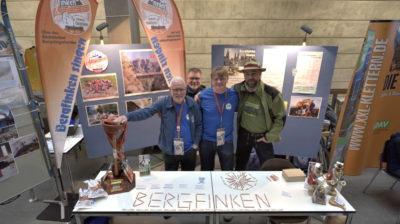 Bergfinken beim 15. Bergsichten Filmfestival 2018 Unser 1. Messestand ... Foto: LyBer