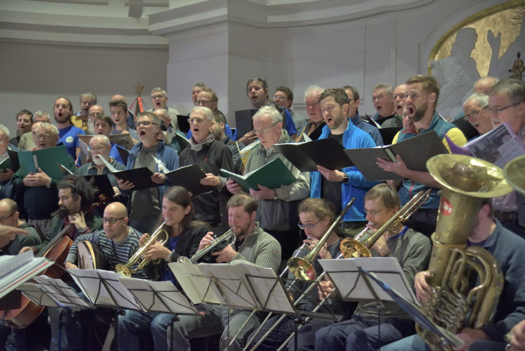 Probe in der Annenkirche mit Banda Internationale am 06. Dezember 2018 (Foto: LyBer)