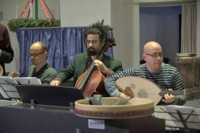 Probe in der Annenkirche mit Banda Internationale am 06. Dezember 2018