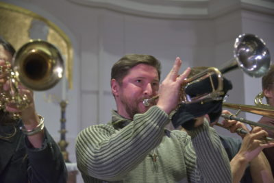 Probe in der Annenkirche mit Banda Internationale am 06. Dezember 2018