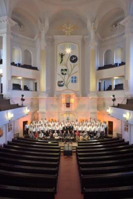 Die Bergfinken in der Annenkirche mit Banda Internationale; Dresden, 08. 12. 2018