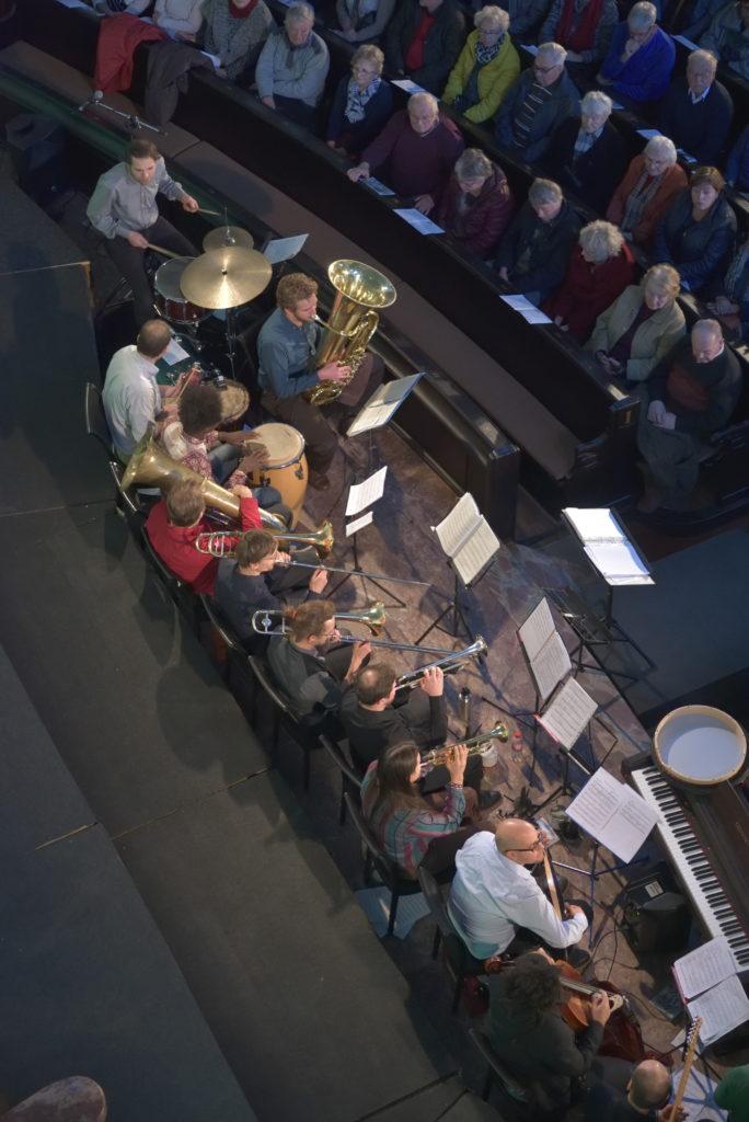 Weihnachtskonzert der Bergfinken in der Annenkirche mit Banda Internationale; Dresden, 08. 12. 2018