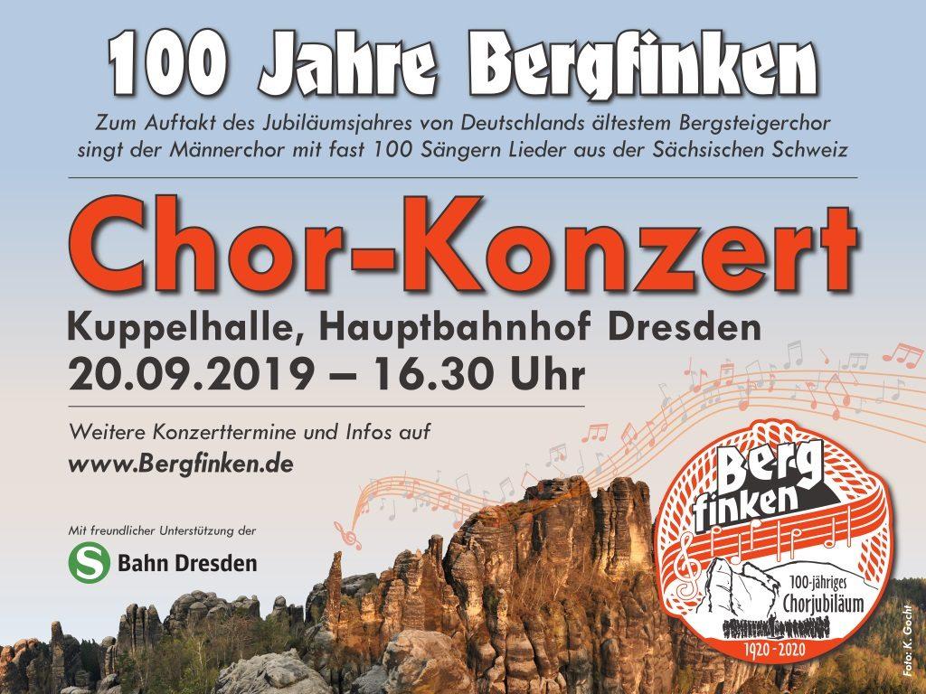 Chor-Konzert im Hauptbahnhof Dresden
