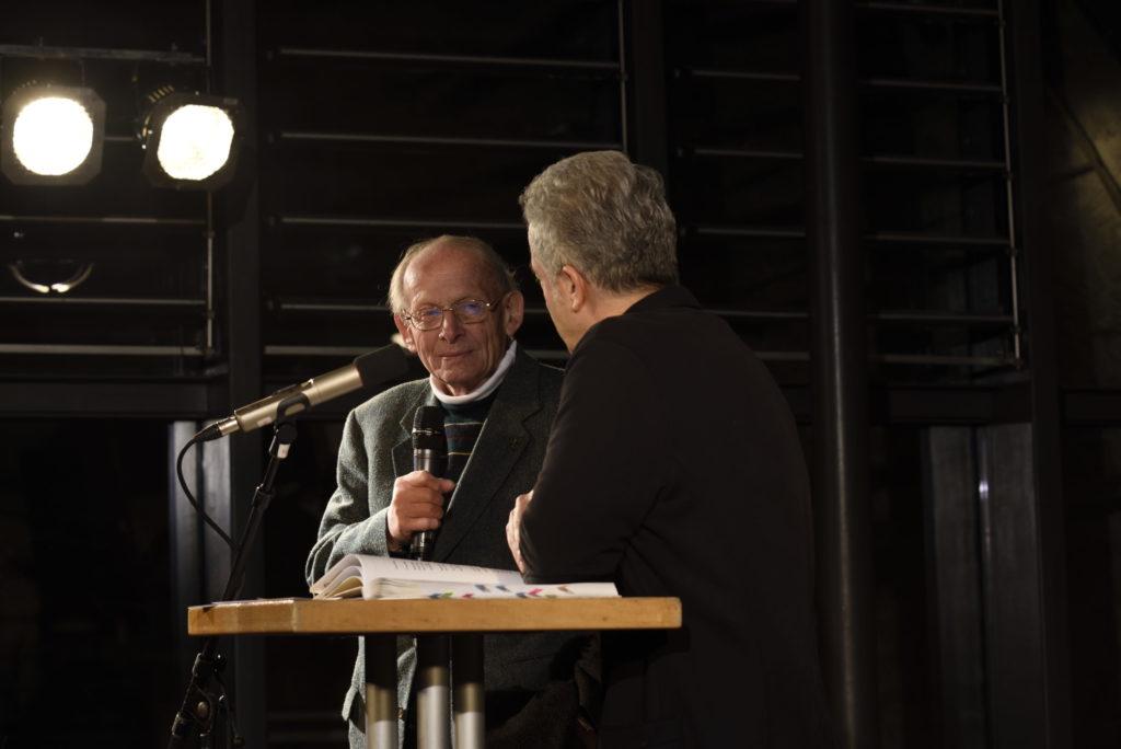 """Uli Voigt im Gespräch mit Dr. Peter Ufer, zur Buchvorstellung """"100 Jahre Bergfinken"""" am 16.01.2020 im Dresdener Bärenzwinger"""
